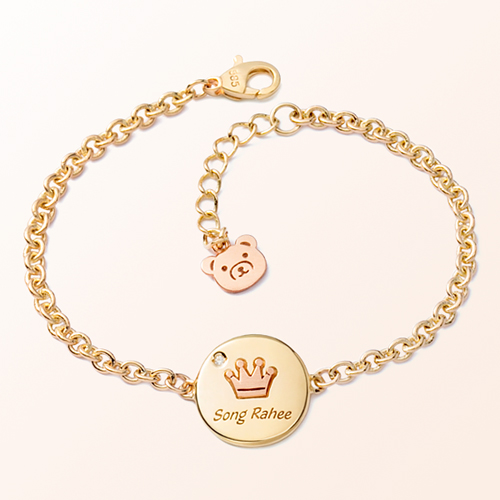 Coin Crown Prevent Gold Bracelet