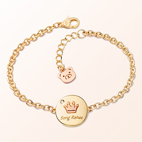 Coin Crown Prevent Gold Bracelet