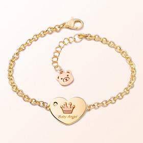 Heart coin crown anti-gold bracelet