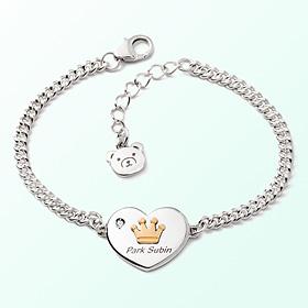 Heart Coin Crown Prevention Silver Bracelet