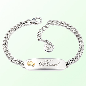 Silver bracelet silver bracelet simple crown