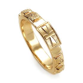 14K / 18K R190 Min Rosary Ring