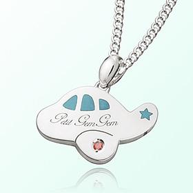 Petit Airplane (Blue) Prevent Blackout Silver Necklace