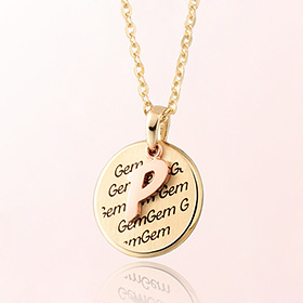 Baby initials Prevent Mia Gold Necklace