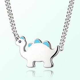 Dinosaur Boy (Blue) Prevent Blackout Silver Necklace