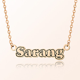 English Initial all-in-one anti-lost gold necklace