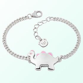 Dinosaur Girl (Pink) Prevention of blackout Silver Bracelet