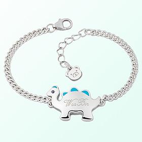 Dinosaur Boy (Blue) Prevent Blackout Silver Bracelet