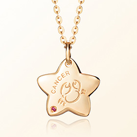 Cancer Prevention Gold Necklace