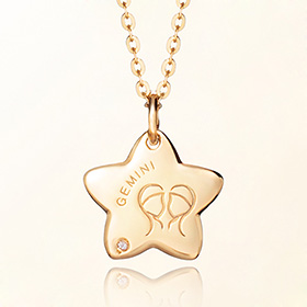 gemini anti-lost gold necklace