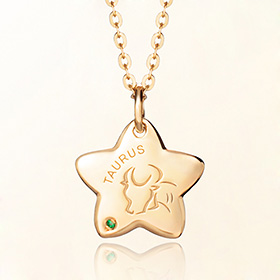taurus anti-lost gold necklace