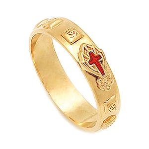 14K / 18K R280 Min Rosary Ring