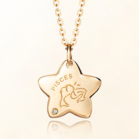 pisces anti lost gold necklace