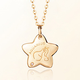 aquarius anti-lost gold necklace