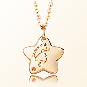 capricorn anti-lost gold necklace