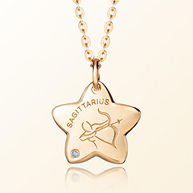 sagittarius anti lost gold necklace