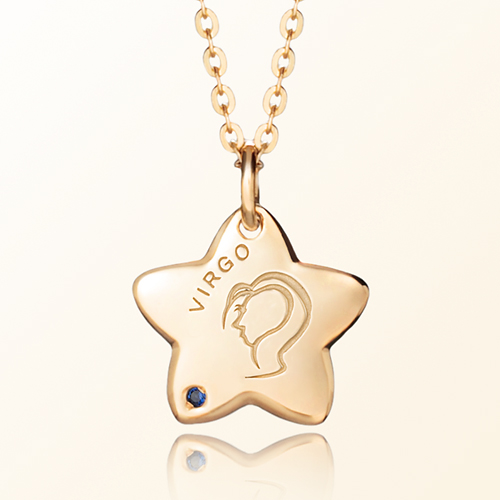 virgo anti lost gold necklace