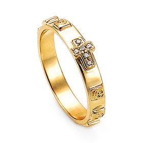 14K / 18K R170 Min Rosary Ring
