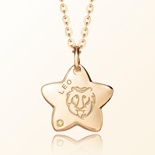 leo Mia Prevention Gold Necklace