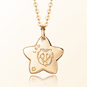 leo Mia Prevention Gold Necklace