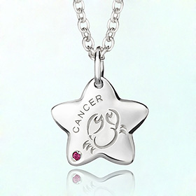 Cancer Prevention Silver Necklace