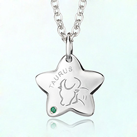 taurus anti-lost silver necklace