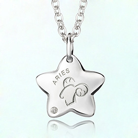 aries Prevent Blackout Silver Necklace