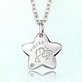 pisces anti-lost silver necklace