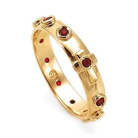 14K / 18K R177 Min Rosary Ring