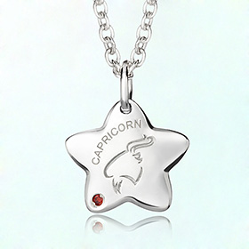capricorn anti-lost silver necklace