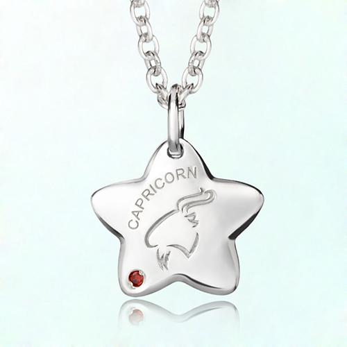 capricorn anti-lost silver necklace