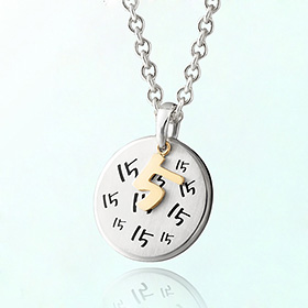 Baby birthday anniversary prevention silver necklace