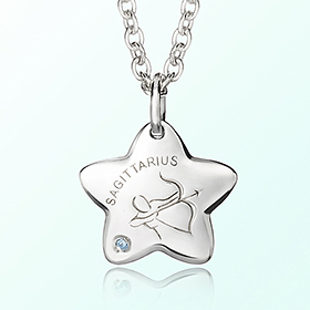 sagittarius Prevent Blackout Silver Necklace