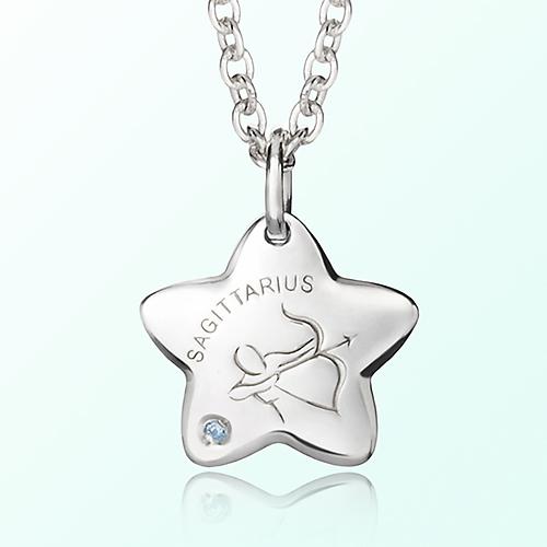 sagittarius Prevent Blackout Silver Necklace