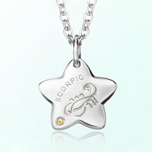 scorpio anti-lost silver necklace