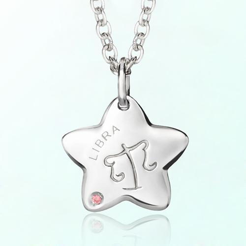 libra Prevent mischievous silver necklace