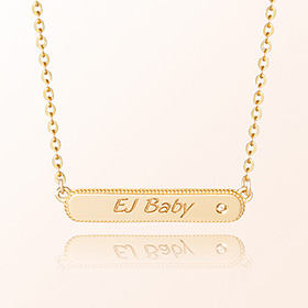 [Baby] simple key point gold necklace to prevent child