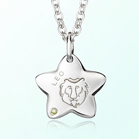 leo Mia Prevention Silver Necklace