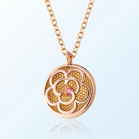 [Baby] Flower Prevention Gold Necklace