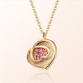 [Baby] Heart Flower Prevention Gold Necklace
