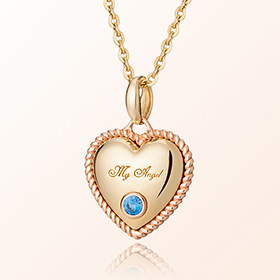 Topaz December birthstone necklace anti-lost gold necklace volume