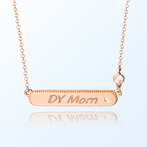 [mom] simple key point gold necklace