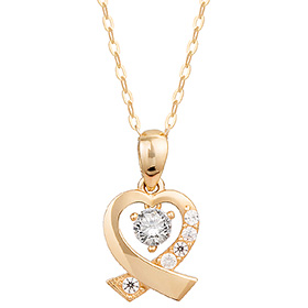 14K / 18K Cross Heart Necklace