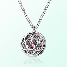 [Baby] Flower Prevention Silver Necklace