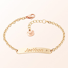 [Baby] simple stick bar gold bracelet