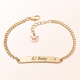 [Baby] simple key point gold bracelet to prevent mischief