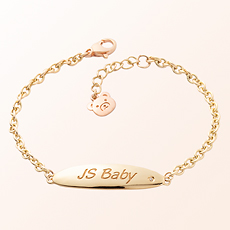 [Baby] ellipse volume bar anti-gold bracelet to prevent