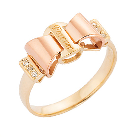 14K / 18K Ribbon Tie Rings Ring