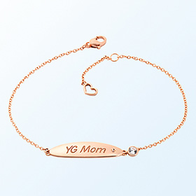 [mom] ellipse volume bar gold bracelet