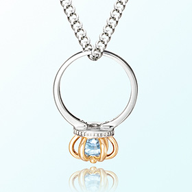 Prevent birthstone silver necklace topaz ring topaz November